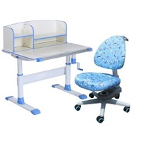Children Ergonomics Study Table and Chair Set with Shelf