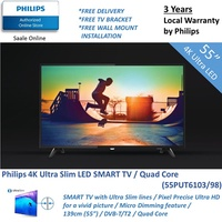 TV Time with Philips 4K Ultra SMART LED 50 inch TV with Pixel Precise Ultra | 55PUT6103/98