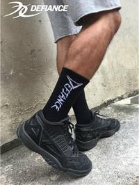 【DEFIANCE】運動大字機能襪 專業級的穩定性、包覆性、舒適、透氣、排汗,一次滿足。(黑色)