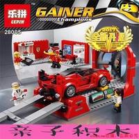 新品上市兼容樂高超級賽車75882法利拉風洞實驗中心兒童拼裝積木玩具28005