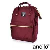 anello 經典口金後背包 酒紅色 L尺寸(AT-B0193A-WI)