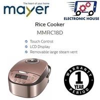 ★ Mayer MMRC18D Rice Cooker 1.5L ★ (1 Year Warranty)