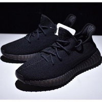 【GSH】ADIDAS YEEZY BOOST 350 V2 TRIPLE WHITE 情侶鞋 慢跑鞋 全黑 黑武士