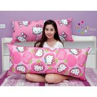 超大HELLO KITTY抱枕~長型抱枕~kitty抱枕~長110cm~台灣製~正版kitty靠枕~kitty床頭枕