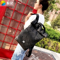 adidas 3d issey miyake diamond backpack male bag leather large capacity backpack