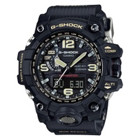 Casio G-Shock Mudmaster New Mud Resistance + Triple Sensor Black Resin Strap Watch GWG1000-1A GWG-1000-1A