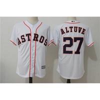 212_Houston Astros休斯頓太空人27號 ALTUVE 白色復古球迷MLB球衣