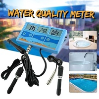 Professional Multi-function Waterproof Dustproof 7-in-1 Digital pH °C °F EC CF TDS Water Testing Met