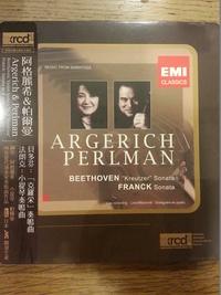 【小閔的古典音樂世界】EMI 阿格麗希、帕爾曼/貝多芬:「克羅采」奏鳴曲、法朗克:小提琴奏鳴曲【1XRCD】