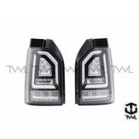 全新VW福斯T6 15 16 17年全LED光條光柱黑底尾燈後燈組方向燈是跑馬燈