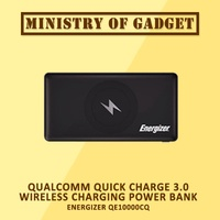 Energizer QE10000CQ Qualcomm Quick Charge 3.0 Wireless Charging Power Bank