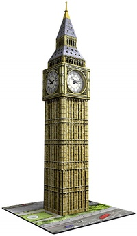Ravensburger Big Ben 216 Piece 3D Jigsaw Puzzle Includes Real Working Clock for Kids and Adults - Ea