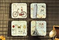 居家掛飾復古創意工業風酒吧奶茶店牆面牆上裝飾品鐵皮畫掛件 晴天時尚館