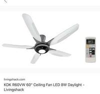 KDK ceiling fan with light