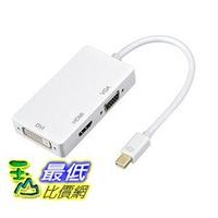 [8玉山最低比價網] 日本代購 Patech 3合1Mini DP到DVI VGA HDMI視訊轉接頭 for Mac / surface pro - 白色
