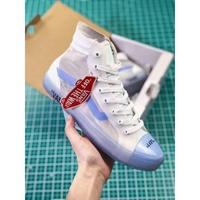 มีสินค้า ผู้หญิง รองเท้า Men's shoes OFF-WHITE เป็นต้นฉบับ vans Old Skool sports shoes sneakers รองเท้าสูง รองเท้าสูง