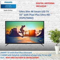 PHILIPS 55 inch SMART LED TV of ultra slim 4K with warranty by Philips 55PUT6002 FOC DIGITAL ANTENNA