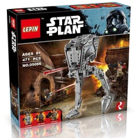 Huremwp LEPIN 05066 471pcs Star Wars AT-ST Walker Wars Building blocks Set Star - Kit