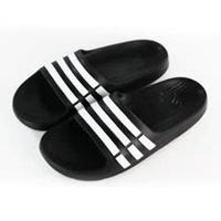 ADIDAS 女 DURAMO SLIDE K 運動拖鞋 黑/白-G06799
