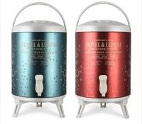 不銹鋼奶茶桶豆漿保溫桶商用12L大容量冷熱咖啡飲料奶茶店開水桶HM 时尚潮流