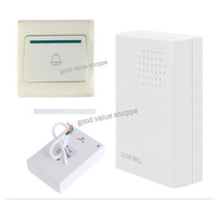 Wired Doorbell Door Bell Chime Switch Button HDB Condo BTO Home Office Shop