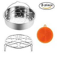 [TOMODS] Steamer Basket for Instant Pot and Pressure Cooker Accessories-Fits Instant Pot 6/8qt Elect