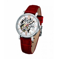 ARBUTUS CLASSIC SKELETON AUTOMATIC AR910SWR STAINLESS STEEL SILVER WOMENS WATCH