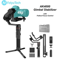 Feiyu Tech AK4000 3 Axis Gimbal Stabilizer with Follow Focus Control for Nikon Sony Canon Cameras Gopro 4kgs Payload