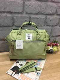 ANELLO 2 WAY POLPESTER CANVAS BOSTON BAG