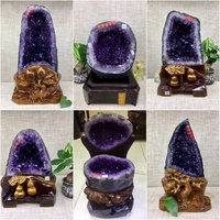 Brazil Uruguay type five series natural Amethyst Cave cornucopia money bag Amethyst crystal ornament