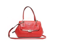 (Coach) Coach Madison Vermillion Leather Satchel Crossbody Bag 25169-25169