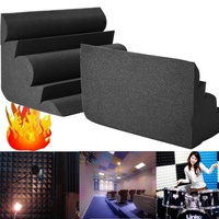 2018 Studio Acoustic Foam Corner Bass Trap Sound Absorption Treatment Proofing