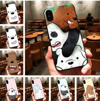 We Bare Bears soft TPU Silicone phone case for iphone [New Stock + Free Delivery]