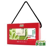 即期品【多立康輕盈纖仙禮盒】綠茶纖仙茶花籽膠囊&甲殼素+綠咖啡豆(2入組)
