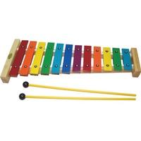 【華邑樂器53029】台製彩色12音鐵琴-彩虹排列 (附紙盒&琴槌 鋁製 奧福節奏樂器)