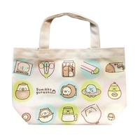 大賀屋 日貨 角落生物 圓點 手提袋 便當袋 女包 包包 小袋子 午餐袋 小包 角落小夥伴 正版 J00016771