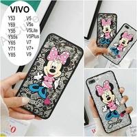 Casing VIVO Y53 Y55/Y55s Y65 Y69 Y71 V5s V5 V7 Plus V9/Y85 3D Lace Minnie Case