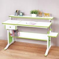 創意小天才 - 第五代兒童專用120cm調節桌+專用抽屜-清新綠