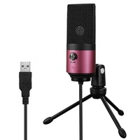 USB MIC Fifine Desktop Condenser Microphone for YouTube Videos Live Broadcast Online Meeting Skype s