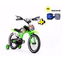 "Aleoca 16"" Scrambler Children Bike (Green)"