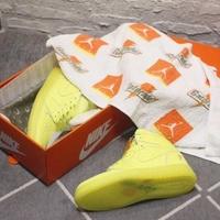 新款 飛人喬登 Air Jordan 1 Gatorade 佳得樂 熒光綠 純皮 男鞋 避震訓練籃球鞋 復古運動鞋 男生