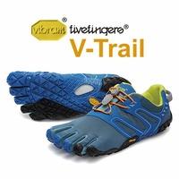 【Vibram Fivefingers VFF 義大利】V-Trail 五趾鞋 戶外越野跑鞋 藍色 男款 (18M6902)
