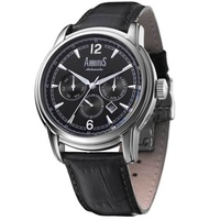 Arbutus AR612SBB Anolog Automatic Black Leather Men Watch