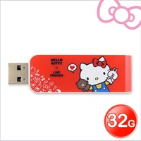 Apacer宇瞻AH334 Kitty X Line派對聯名碟 32GB Kitty紅