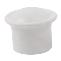 28 mm x diameter plastic textile curtain rod rod end cap white 2 parts