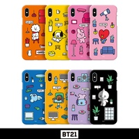 BTS BT21 Official Authentic Goods Color Soft Jelly Case Roomies Series iPhone Case By GCASE