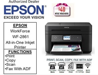 Epson Workforce WF-2861 A4 Multi-Function with ADF InkJet Printer for Home Office  bundel with CNY gift: 16GB flash drive ** Free $40 NTUC Voucher Till 2nd Mar 2019 ** WF 2861 WF2861