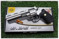 ปืนอัดลมสปริง Galaxy G36B .357 Revolver สีดำ ปืนลูกโม่ ปืนของเล่น ปืนบีบีกัน ปืนอัดลม ปืนโมเดล ส่งไว เก็บเงินปลายทางได้