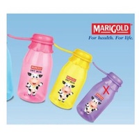 Cute Marigold Small Plastic UHT Milk Water Bottle for Children - Cow Design