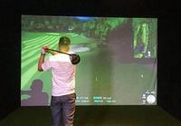 【奇滿來】高爾夫模擬練習打擊投影布幕 4公尺*3公尺 高爾夫專用打擊消音布幕 高爾夫模擬器投影布幕 AZAM